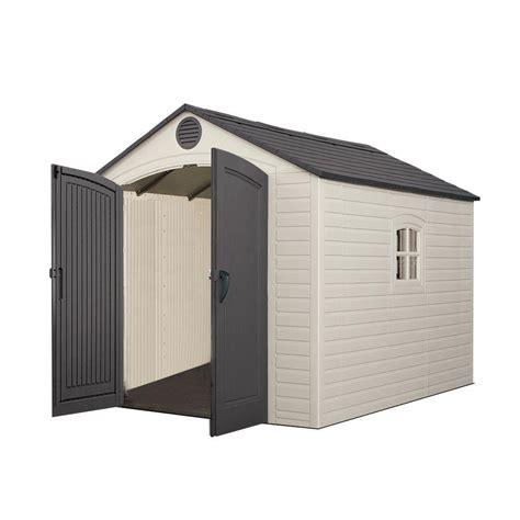lifetime sheds lifetime 8 ft x 10 ft storage plastic shed 60115 the home depot