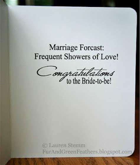 Sentiments For Wedding Shower Card
