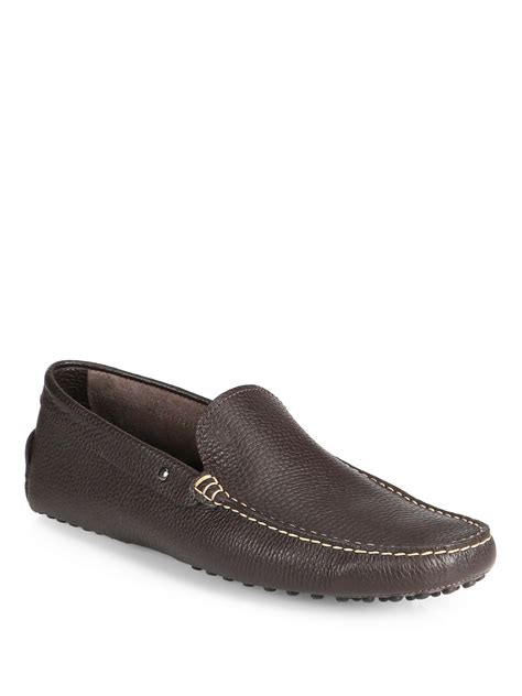 tods loafers tod s borchie gommino loafers in brown for caffe lyst