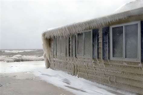 Frozen House by Winter Won T Let Go Of This Frozen House Nbc News