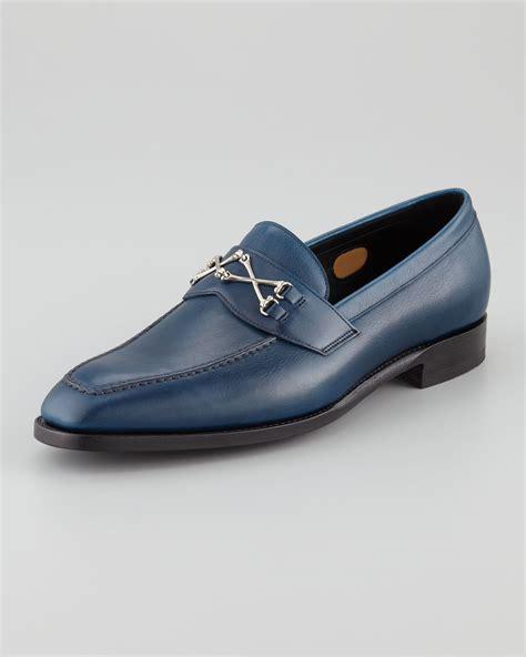 barker black loafers barker black wolfe crossbones loafer navy in blue for