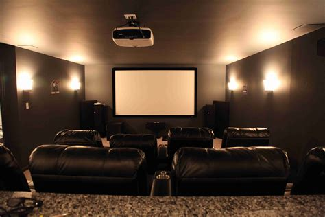 theater room furniture basement home theater dilemma flatscreen or projector