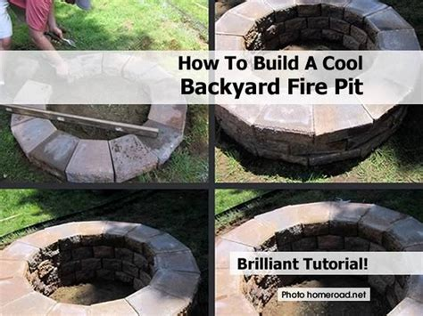 build backyard fire pit how to build a cool backyard fire pit