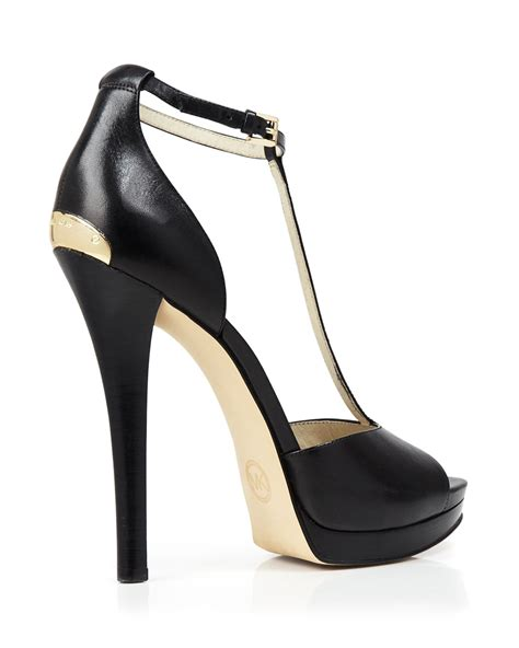 michael michael kors open toe t platform sandals