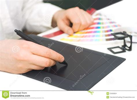 graphic design works at home graphic designer at work stock images image 31650654