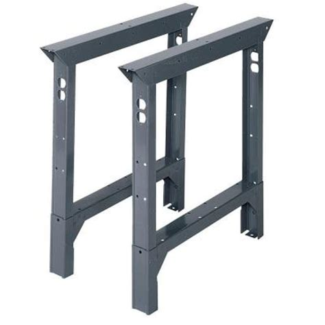 work bench legs edsal 33 in h x 2 in w x 30 in d steel adjustable height workbench legs abl30 the