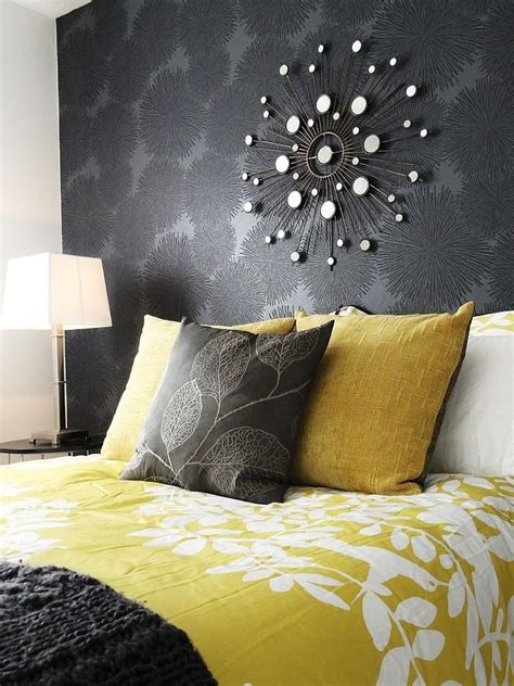 What Is Opulence Mean Cheerful Sophistication 25 Elegant Gray And Yellow Bedrooms