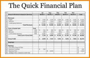 business plan finance template doc 728546 financial plan template exle