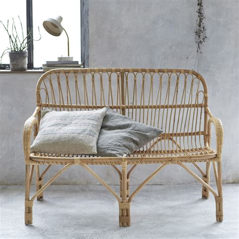 double armchair natural rattan double armchair garden seat bench vegetable