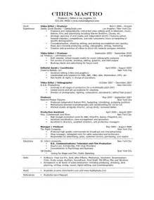 Fashion Production Assistant Sle Resume by Production Assistant Resume Template Http Www Resumecareer Info Production