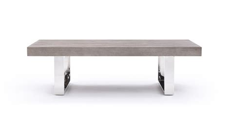grey modern coffee table modrest lola modern grey brush coffee table coffee