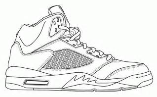 jordan shoe coloring pages kids coloring