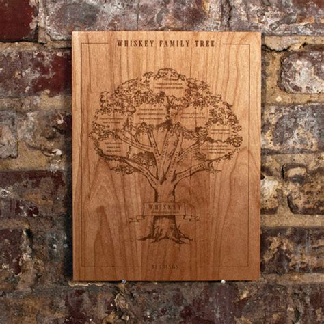 family woodworking whiskey family tree wood engraving bearings touch