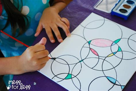 projects for toddlers watercolor circle mess for less