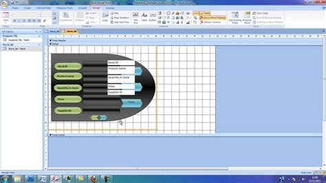 design form access microsoft access form design youtube