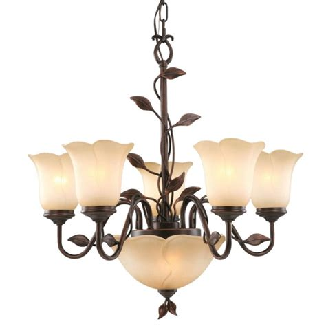 Allen Roth Fym8115al 5 7 Light Eastview Bronze Lowes Chandeliers