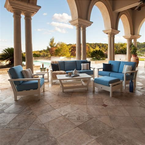 polywood harbour collection  piece outdoor living set