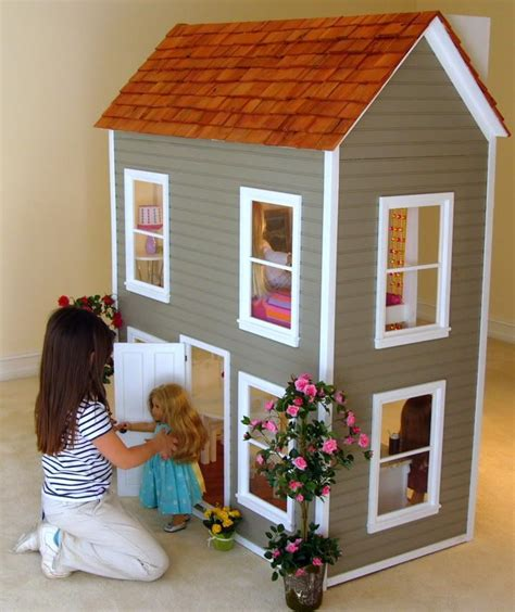 big american girl doll house doll house plans for 18 inch dolls numberedtype