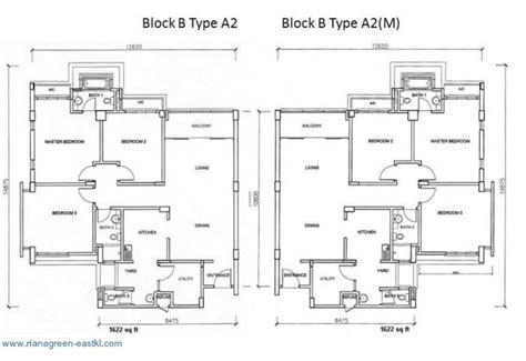 Dua Residency Floor Plan Riana Green Eastkl Kuala Lumpur Properties Malaysia