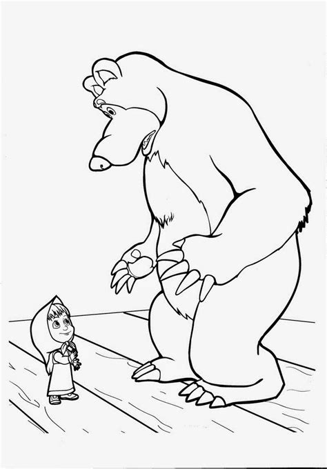 coloring pages masha and bear masha and bear coloring pages for kids printable free