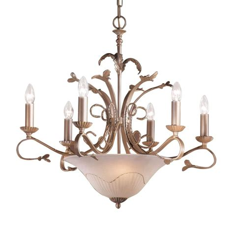 Shop Classic Lighting Treviso 29 In 9 Light Pearlized Gold Iron Candle Chandelier