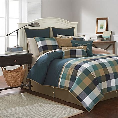 southern tide woodlands comforter set in forest green