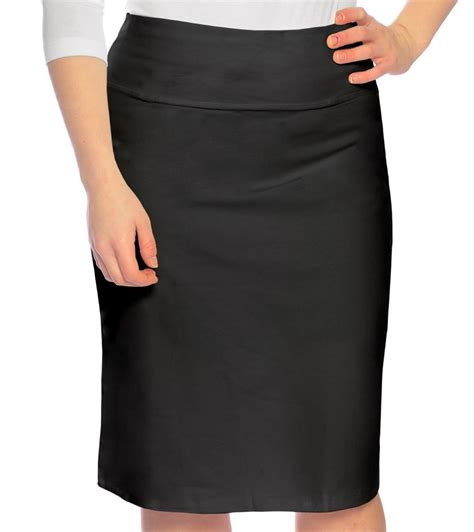 stretch pencil skirt for in cotton spandex
