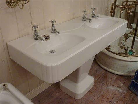 stiffkey bathrooms 1950s double basin by porcher paris antique basins sinks