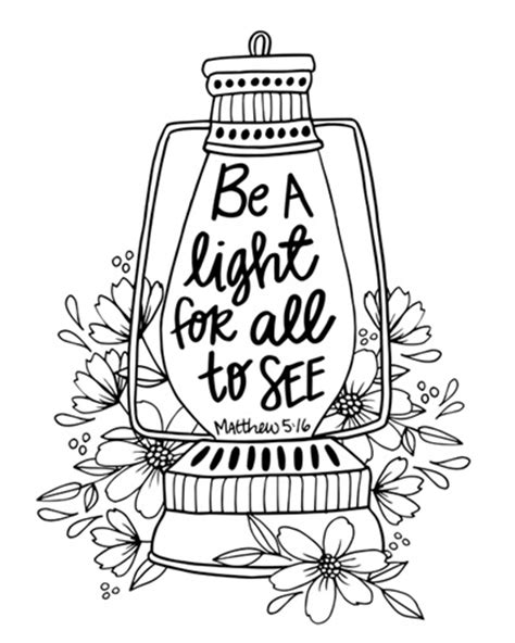 inspirational bible verses coloring pages be a light matthew 5 16 coloring canvas canvas on demand