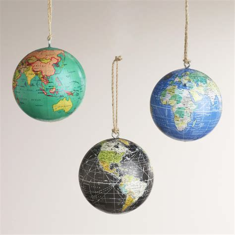 paper globe ornaments set of 3 world market
