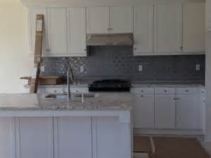 gray backsplash kitchen white kitchen with gray glass backsplash home sweet