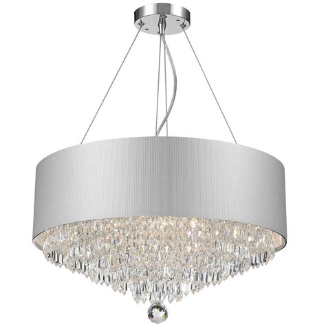 White Acrylic Chandelier Worldwide Lighting Gatsby 8 Light Chrome And Clear Chandelier With White Acrylic Drum