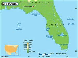 florida landform map florida physical map by maps from maps world s