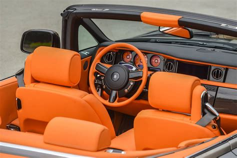 roll royce orange bespoke rolls royce phantom drophead coupe halloween