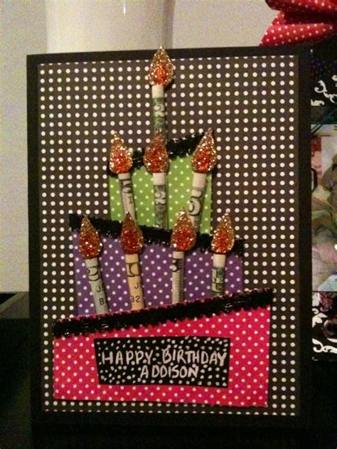 Money  Ee  Birthday Ee  Dles Card I Made For Niece