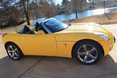 old car owners manuals 2008 pontiac solstice electronic throttle control buy used 08 pontiac solstice convertible automatic leather yellow 31k miles shipping fina in