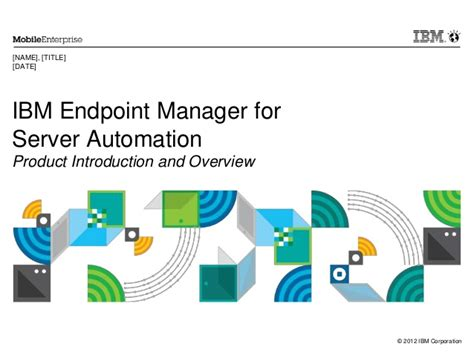 ibm powerpoint template ibm endpoint manager for server automation presentation