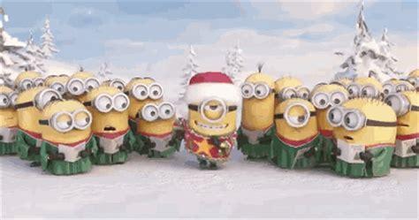 gif minions wuenschen frohe weihnachten gif animation world