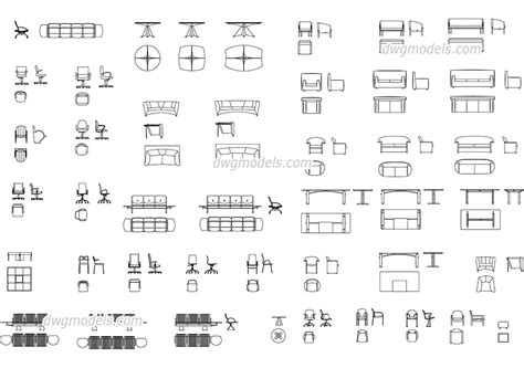 furniture for offices dwg free cad blocks download