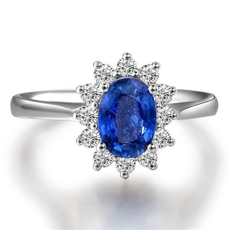 exquisite sapphire and engagement ring on 18k