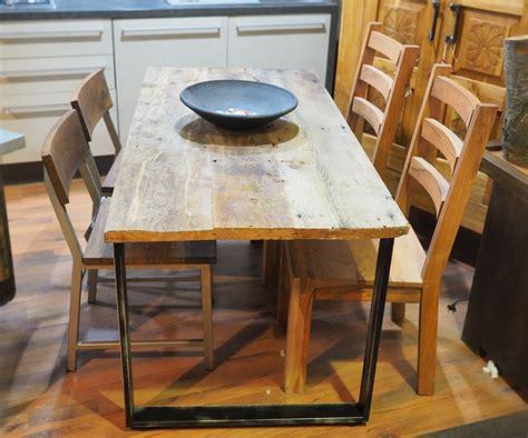 tavolo legno ferro tavolo in legno e ferro moderno industrial 80 x160 all 240