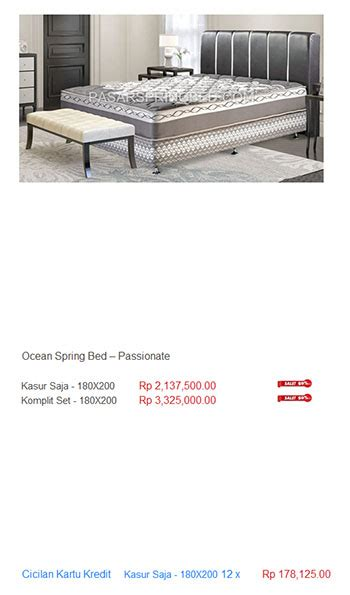 Kasur Bigland Single Bed harga bed harga bed termurah di