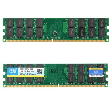 Ram Amd xiede 4gb ddr2 800mhz pc2 6400 240 pin desktop pc memory ram for amd motherboard export