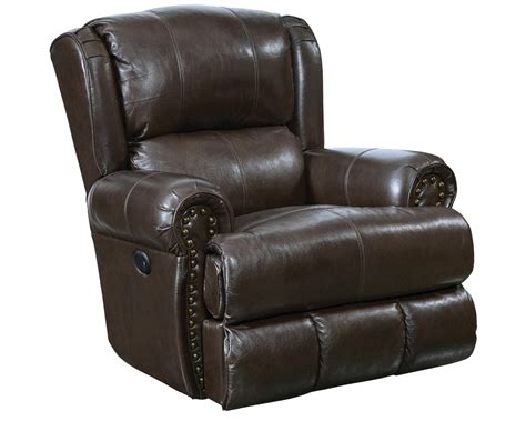 Lay Flat Power Recliner by Catnapper Duncan Top Grain Leather Touch Power Deluxe Lay