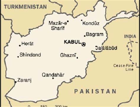 Afghanistan Country Map Outline by Afghanistan Map