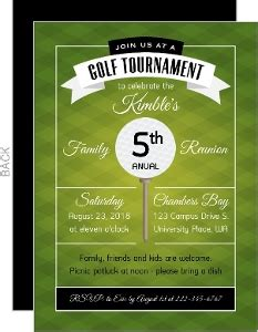Custom Golf Party Invites And Golf Tournament Invites Golf Tournament Invitation Template Free