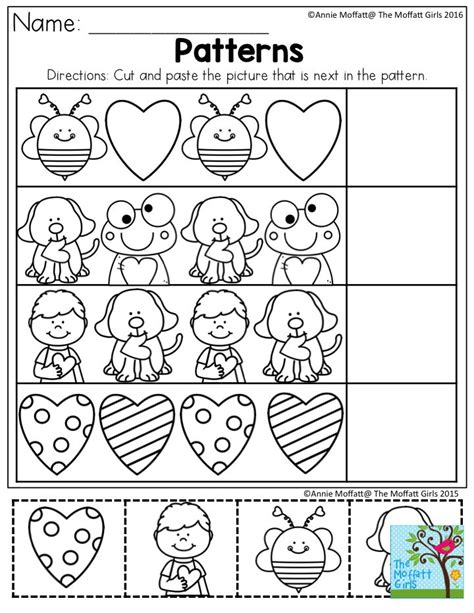 c pattern worksheet for nursery 28 cut and paste patterns worksheets for kindergarten
