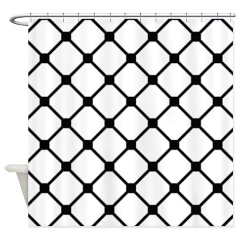 Black And White Lattice Curtains Lattice Pattern Black And White Shower Curtain By Mainstreethomewares