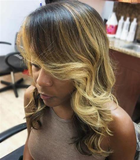 balayage black woman 35 balayage haare blond bob frisuren