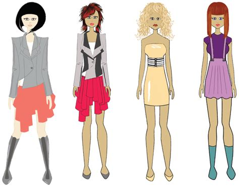 design fashion girl fashion design sketches for girls www pixshark com